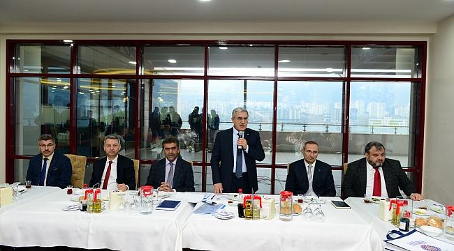 KSÜ Rektörü Prof.Dr.Niyazi Can ve ekibi Basın'la buluştu