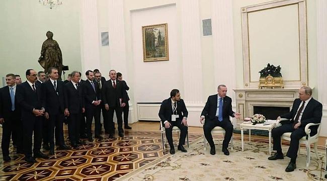 Cumhurbaşkanı Erdoğan'ın heyetinde Mahir Ünal'da yer aldı.