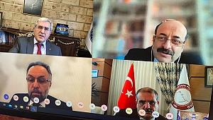Rektör Can, YÖK Başkanı Prof. Dr. M. A. Yekta Saraç İle Video Konferansla Toplantı Gerçekleştirdi