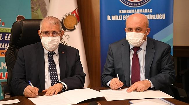 """""""KAHRAMANMARAŞ BİLGİYLE BULUŞUYOR"""" PROJESİ PROTOKOL İMZALARI ATILDI"""
