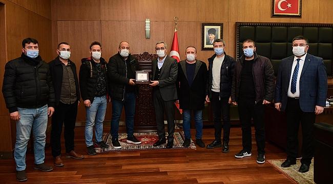 KAHRAMANMARAŞSPOR'DAN BAŞKAN GÜNGÖR'E DESTEK TEŞEKKÜRÜ