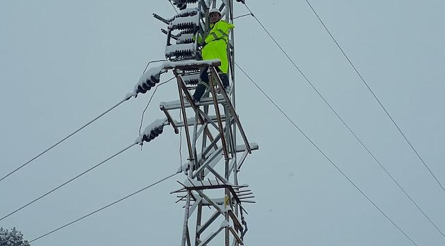 Meteorolojinin günler öncesinden uyardığı yoğun kar yağışı Kahramanmaraş'ın kuzey ilçelerini etkisi altına aldı.