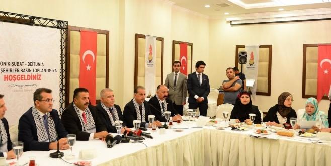 ONİKİŞUBAT'A FİLİSTİN'DEN KARDEŞ BELEDİYE